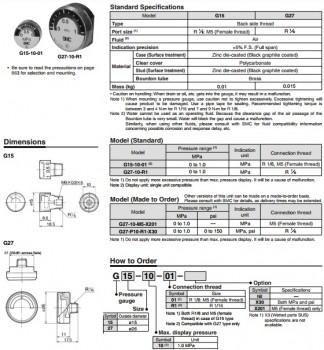 Đồng hồ đo áp suất SMC