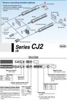 Xi lanh khí SMC dòng CJ2