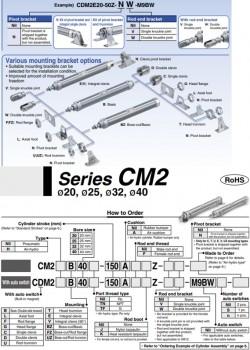 Xi lanh khí SMC dòng CM2